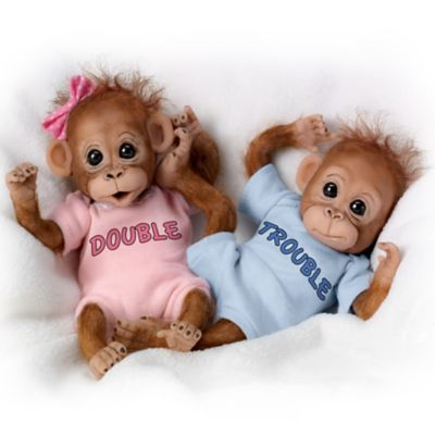 Monkey Baby Doll Set Double Trouble
