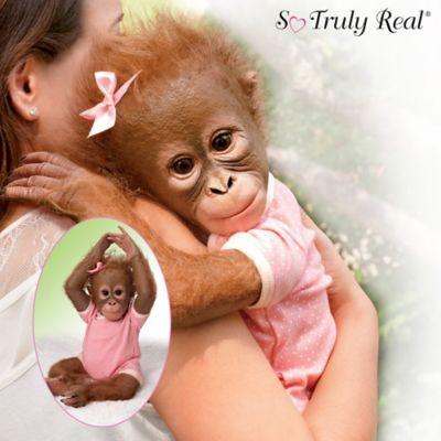 Annabelles Hugs So Truly Real Poseable Lifelike Monkey Doll