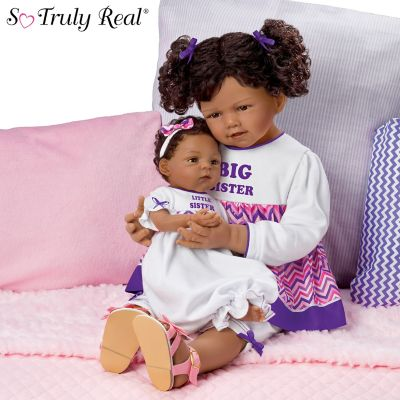 A Sisters Love Lifelike Child And Baby Doll Set