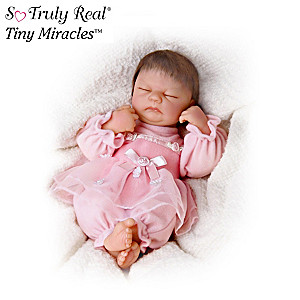 Lifelike Sleeping 10 Inch Vinyl Doll