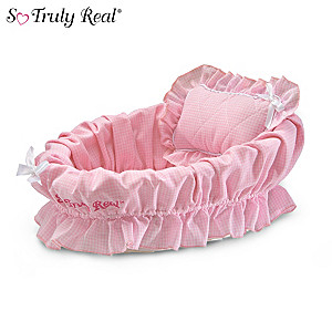 "Wicker Bassinet For 10"" Baby Doll"