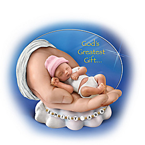 """God's Greatest Gift"" Baby Figurine You Can Personalize"
