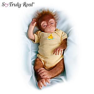 "Collectible ""Little Jala"" Baby Orangutan Doll"
