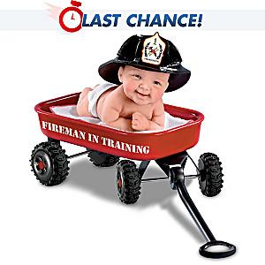 "Cheryl Hill ""Fireman In Training"" Miniature Baby Doll"