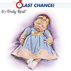 25th Anniversary Lifelike Baby Doll In Embroidered Dress