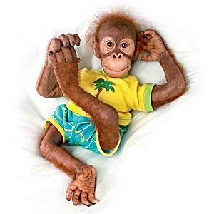 "Simon Laurens Poseable ""Ollie"" Orangutan Child Doll"