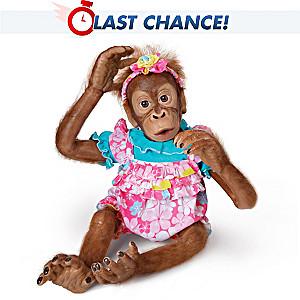 "Poseable ""Lollie"" Orangutan Child Doll By Simon Laurens"