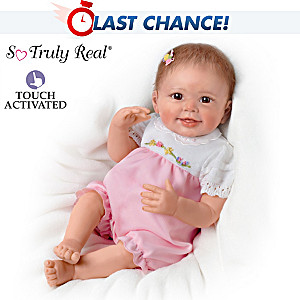 Lifelike Interactive Baby Doll With Moving Feet