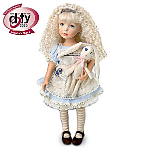 "Dianna Effner Poseable ""Alice In Wonderland"" Alice Doll"
