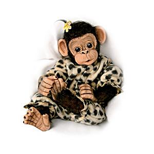 Amazingly Lifelike Baby Chimpanzee Doll By Cindy Sales