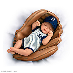 MLB-Licensed New York Yankees Baby Doll In Baseball Glove