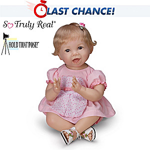 "Bonnie Chyle ""Hannah"" Poseable Lifelike Baby Girl Doll"