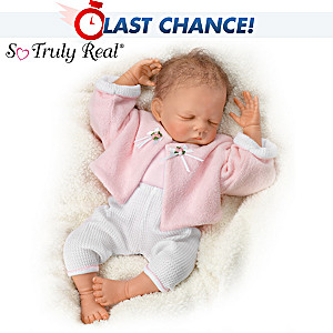 Sleeping Baby Doll By Waltraud Hanl With RealTouch Skin
