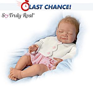 """Night, Night Gracie"" Sleeping Baby Doll By Waltraud Hanl"