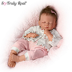 "Waltraud Hanl ""Sweet Slumbers, Abbie"" Lifelike Baby Doll"