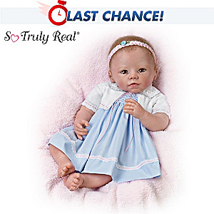 Lifelike Weighted Poseable Baby Girl Doll By Linda Murray
