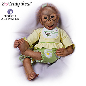 Lola Poseable Monkey Doll Turns Her Head Side To Side
