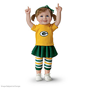 NFL-Licensed Green Bay Packers Fan Girl Doll