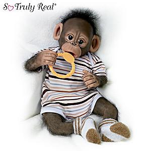 "Cindy Sales ""Baby Zeke"" Poseable Monkey Doll"
