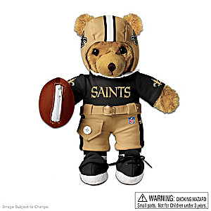 Interactive New Orleans Saints Coaching Teddy Bear
