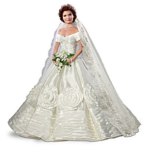 Jacqueline Kennedy Bisque Porcelain Poseable Bride Doll