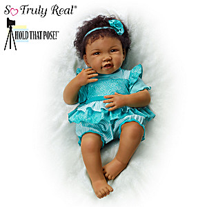 "Hold That Pose ""Destiny"" Lifelike Baby Doll By Waltraud Hanl"