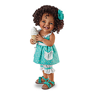 "Jane Bradbury ""Giggles And Curls"" Poseable Child Doll"