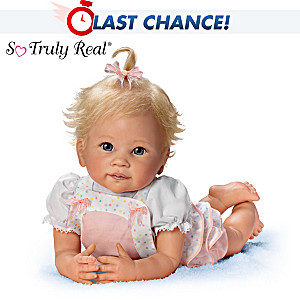 "Linda Murray ""Addie's Tummy Time"" Lifelike Poseable Doll"
