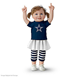 NFL-Licensed Dallas Cowboys Fan Girl Doll