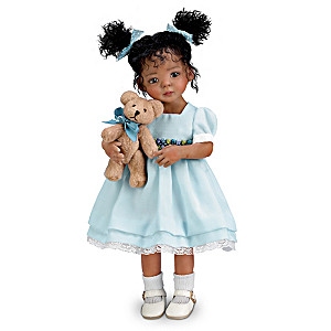 "Mayra Garza ""Jada"" Poseable Doll With FREE Teddy Bear"