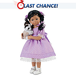 "Mayra Garza ""Kimani"" Poseable Doll With FREE Plush Puppy"