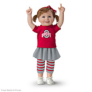 Officially Licensed Ohio State Buckeyes Fan Girl Doll