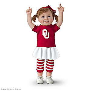 Officially Licensed Oklahoma Sooners Fan Girl Doll