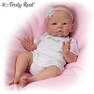 "Tasha Edenholm ""Snuggle Bunny"" Lifelike Poseable Baby Doll"