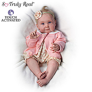 "Sherry Miller ""Snuggle Coo"" Interactive Baby Doll That Coos"