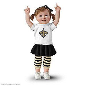 NFL-Licensed New Orleans Saints Fan Girl Doll