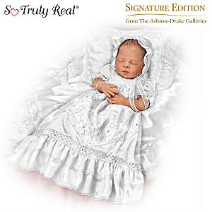 """All God's Grace In One Little Face"" Christening Doll"