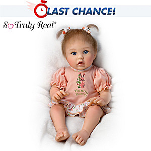 "Cheryl Hill ""Little Hunny Bunny"" Poseable Baby Doll"