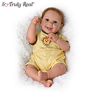 "Cheryl Hill ""Little Monkey"" Poseable Baby Doll"
