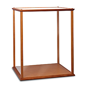 Wood And Plexi-Glass Display Case For Collectible Dolls
