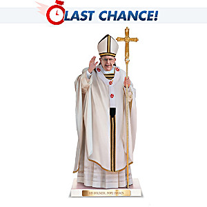 Pope Francis Sculpture With Custom Display Base