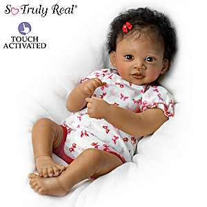 "Waltraud Hanl ""Sweet Butterfly Kisses"" Interactive Baby Doll"