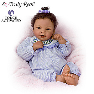 """Waltraud Hanl """"Raspberry Kisses"""" Touch-Activated Baby Doll"""