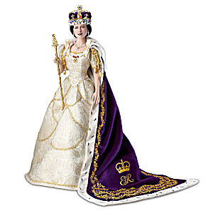 Queen Elizabeth II Poseable Porcelain Coronation Doll