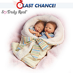 "Donna Lee ""Taylor And Tyler"" Poseable Twin Baby Doll Set"
