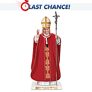 Saint John Paul II Sculpture With Custom Display Base