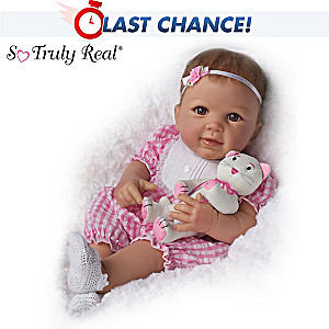 "Linda Murray ""Kitten Kisses"" Baby Girl Doll With Toy Kitten"
