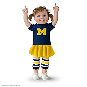Officially Licensed Michigan Wolverines Fan Girl Doll