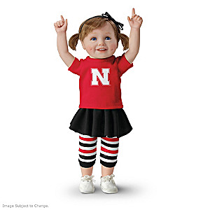 Officially Licensed Nebraska Huskers Fan Girl Doll