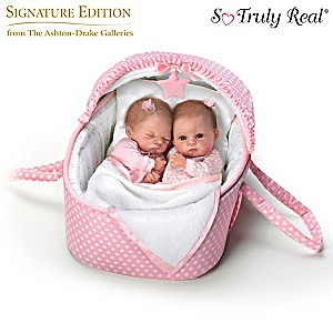 Waltraud Hanl Lullaby Twins Baby Dolls With Musical Bassinet